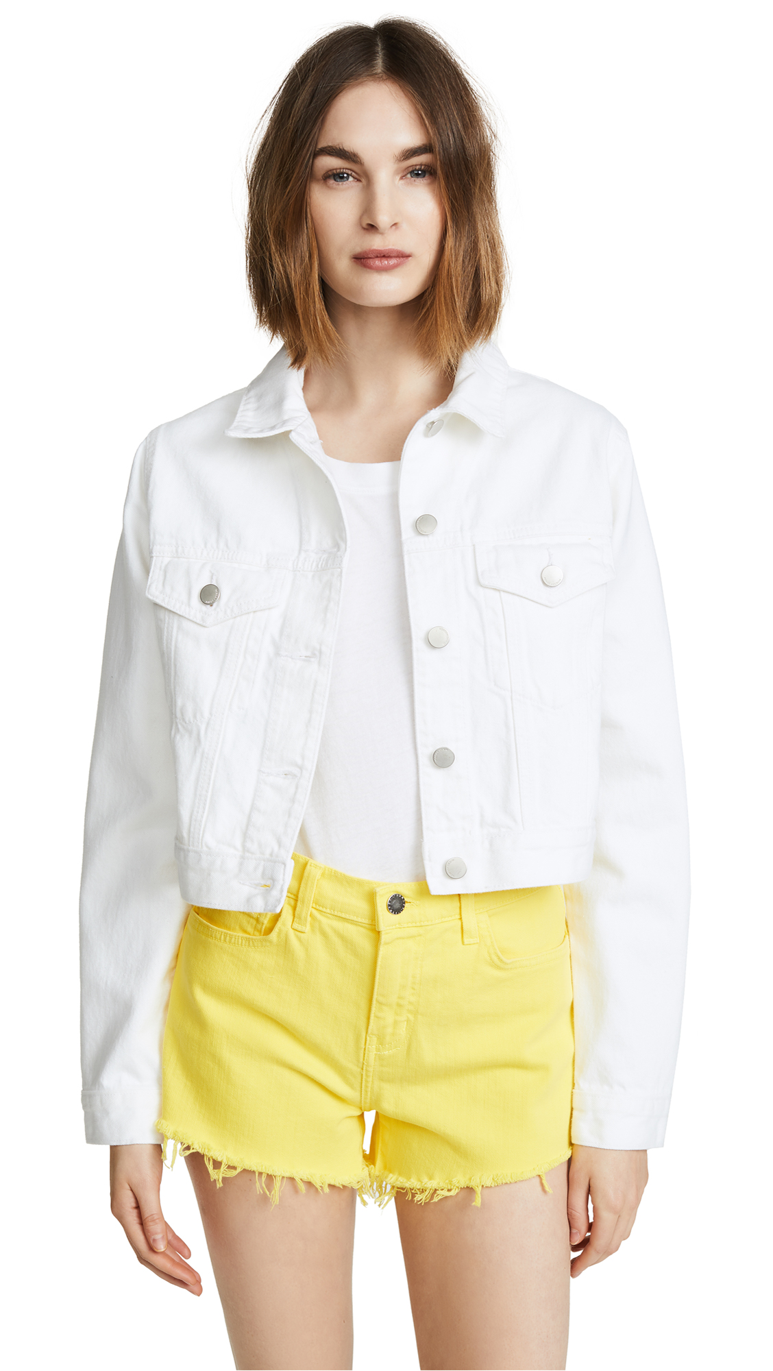 Nobody Denim The Fleur Cropped Denim Jacket