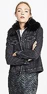 Nobody Denim Fleur Jacket with Faux Fur Collar