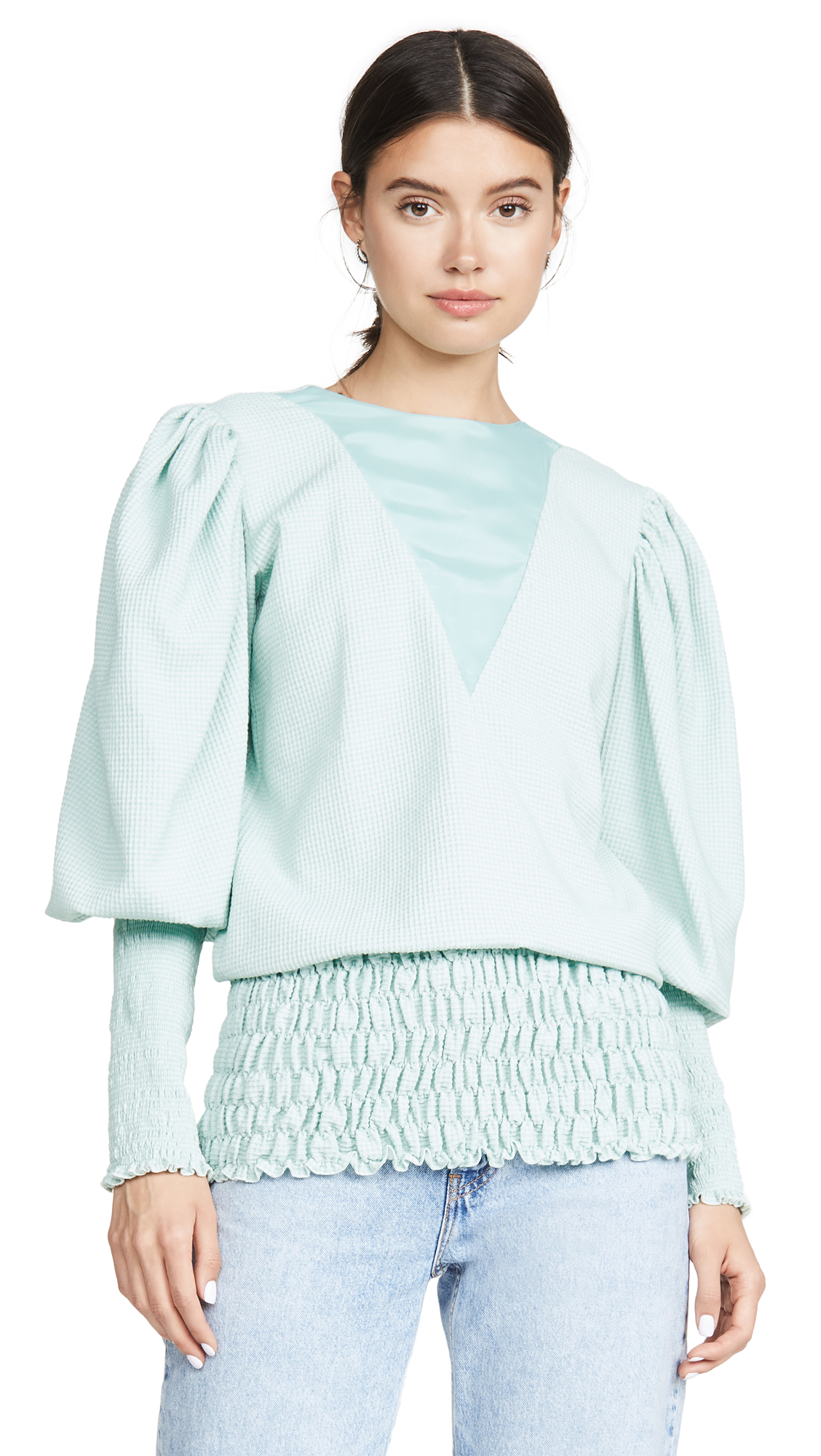 Buy N DUO online - photo of N DUO Puff Sleeve Blouse