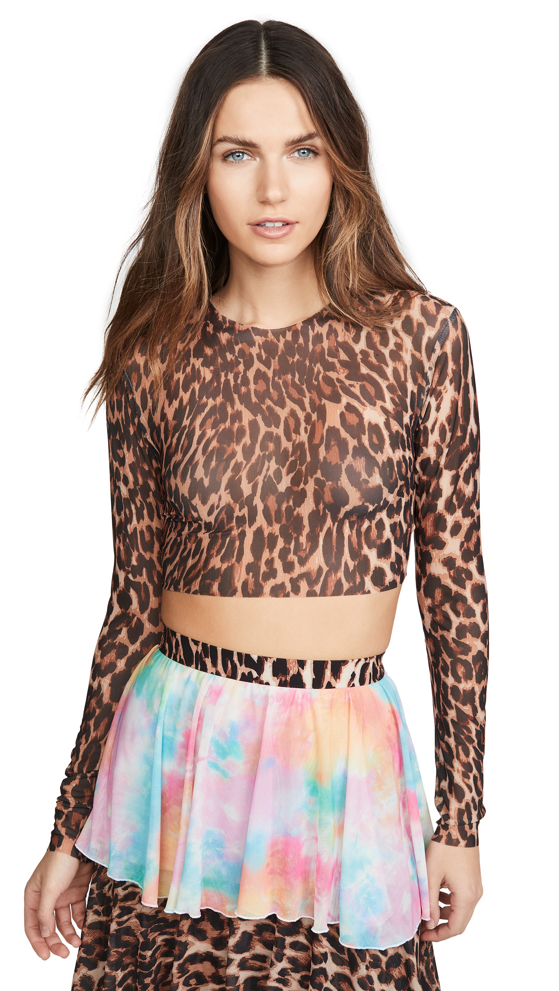 Buy N DUO online - photo of N DUO Leopard Crop Top