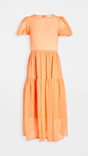 Never Fully Dressed Tiered Midi Dress