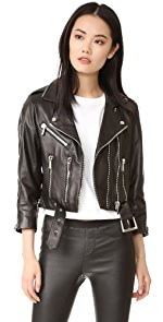065a605d0b Nour Hammour Avalon Cropped Motorcycle Jacket