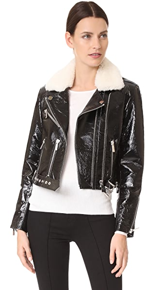 Nour Hammour Mayet Cropped Motorcycle Jacket
