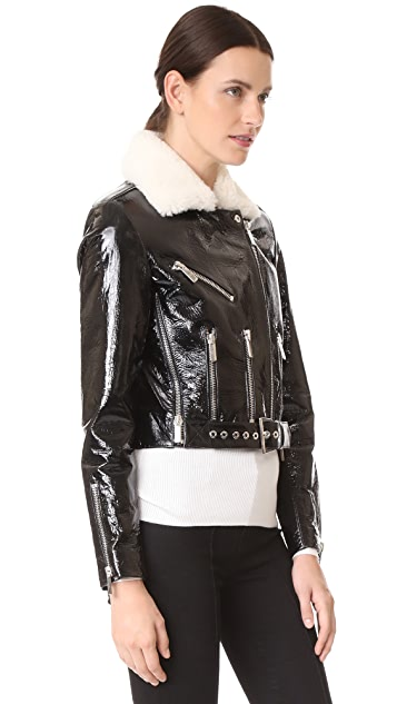 Nour Hammour Mayet Cropped Motorcycle Jacket
