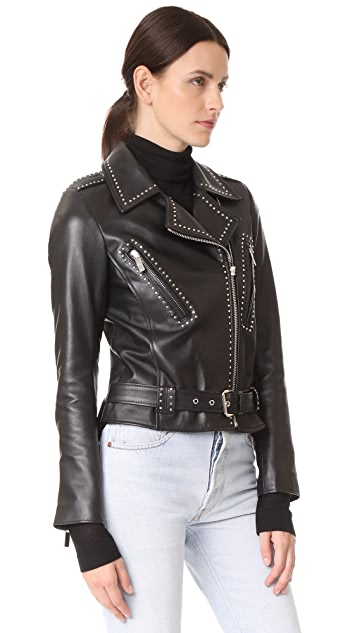 Nour Hammour Baptist Jacket with Small Accent Studs