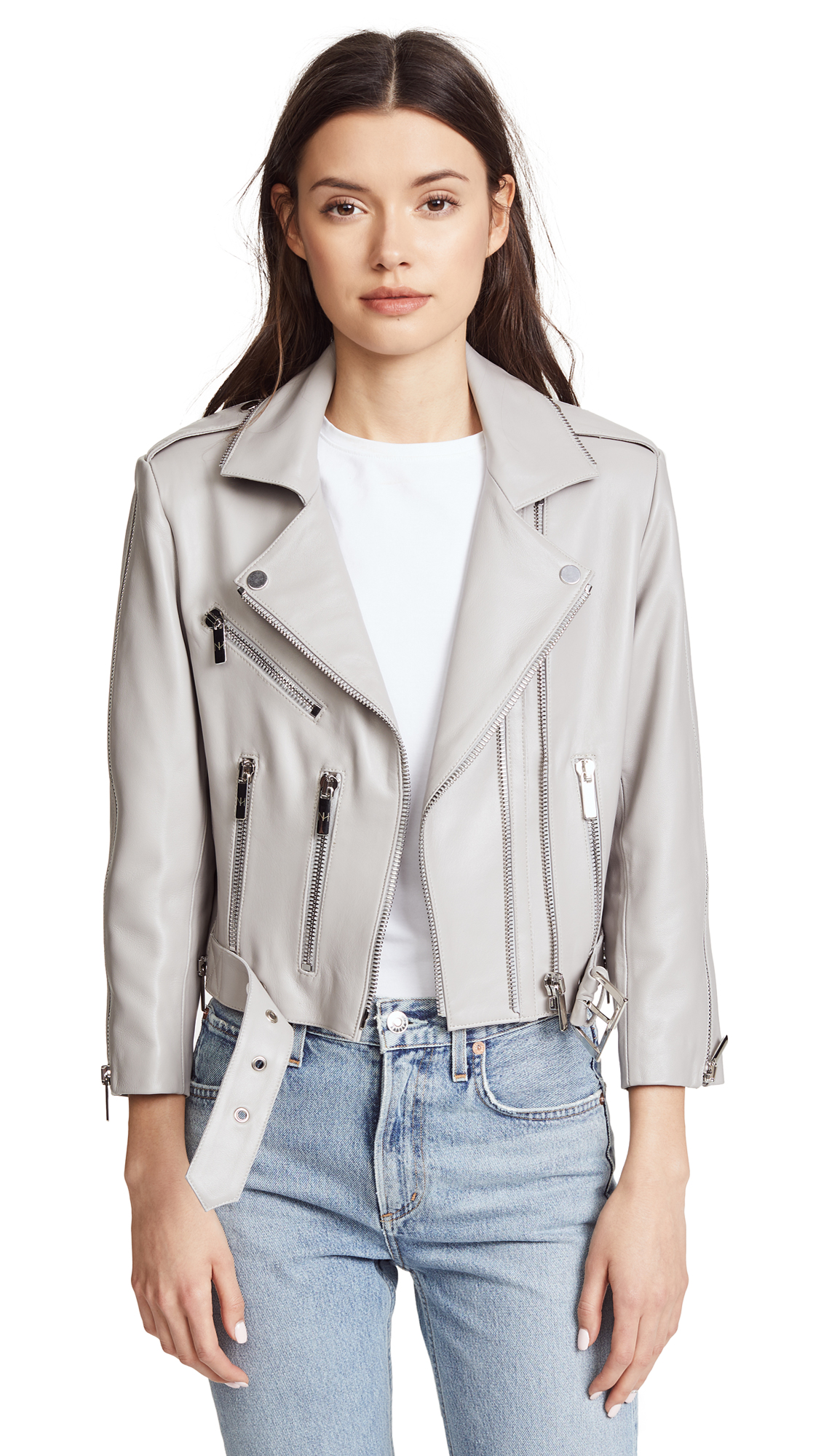 Nour Hammour Avalon Cropped Moto Jacket