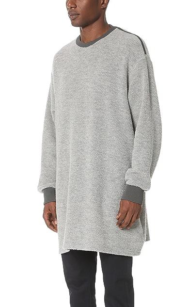 N.Hoolywood Long Boucle Knit Tunic