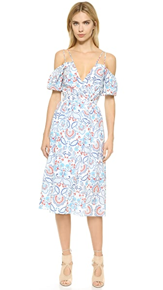 Nicholas N/Nicholas Shoulder Cutout Wrap Dress