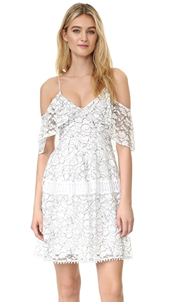 Nicholas N/Nicholas Basque Lace Dress