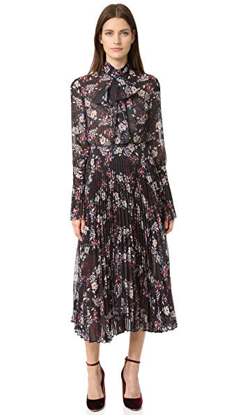 Nicholas Pleated Floral Dress
