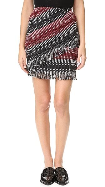 Nicholas Tweed Fringe Miniskirt