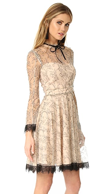 Nicholas French Lace Mini Swing Dress
