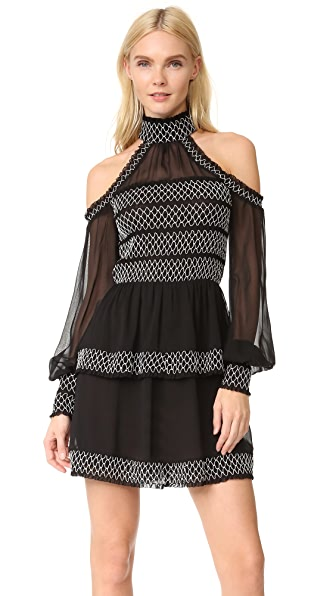 Nicholas Cold Shoulder Smock Dress