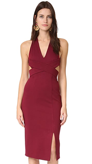Nicholas Wrap Halter Dress