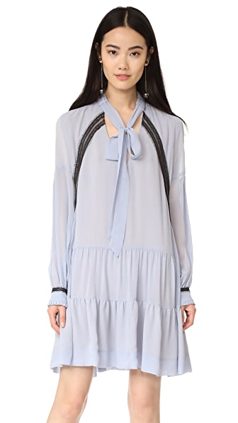 Nicholas Georgette Shirtdress - French Lavender