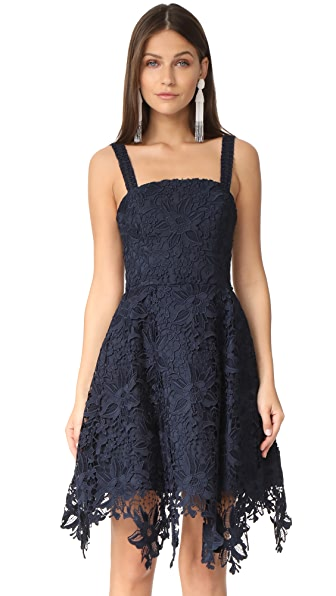 Nicholas Bellflower Mini Ball Dress - Navy