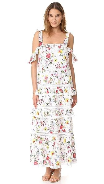 Nicholas N/Nicholas Daffodil Broderie Tiered Maxi Dress - Daffodil