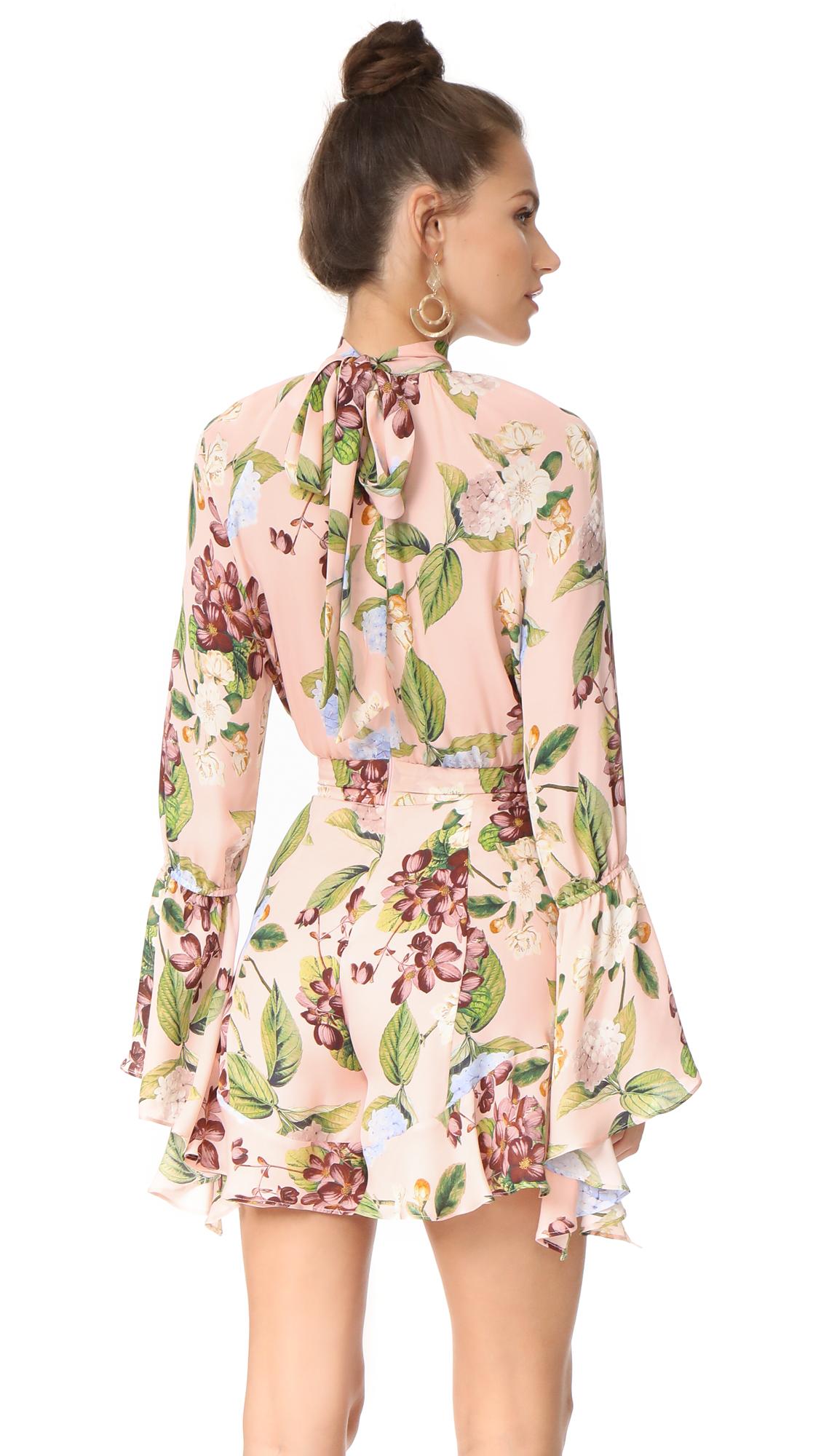 c51142601f71 Nicholas Evie Floral Bell Sleeve Romper