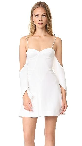 Nicholas N/Nicholas Flounce Mini Dress - White