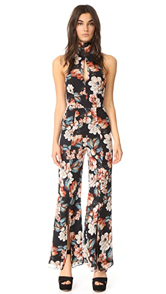 Nicholas Lola Long Sleeve Backless Jumpsuit - Lola Floral