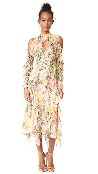 Nicholas Aveline Cold Shoulder Maxi Dress