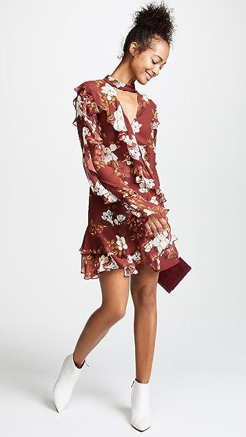 Nicholas Celeste Long Sleeve Wrap Mini Dress