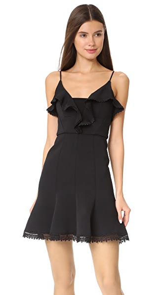 Nicholas Bandage Mini Dress In Black