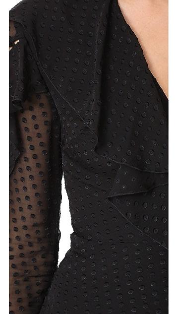 Nicholas Long Sleeve Wrap Mini Dress