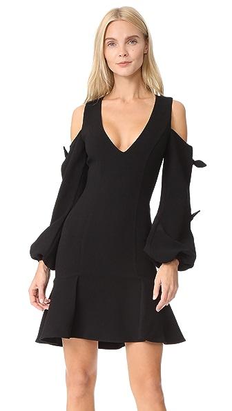 Nicholas N/Nicholas Knit Sleeve Mini Dress In Black