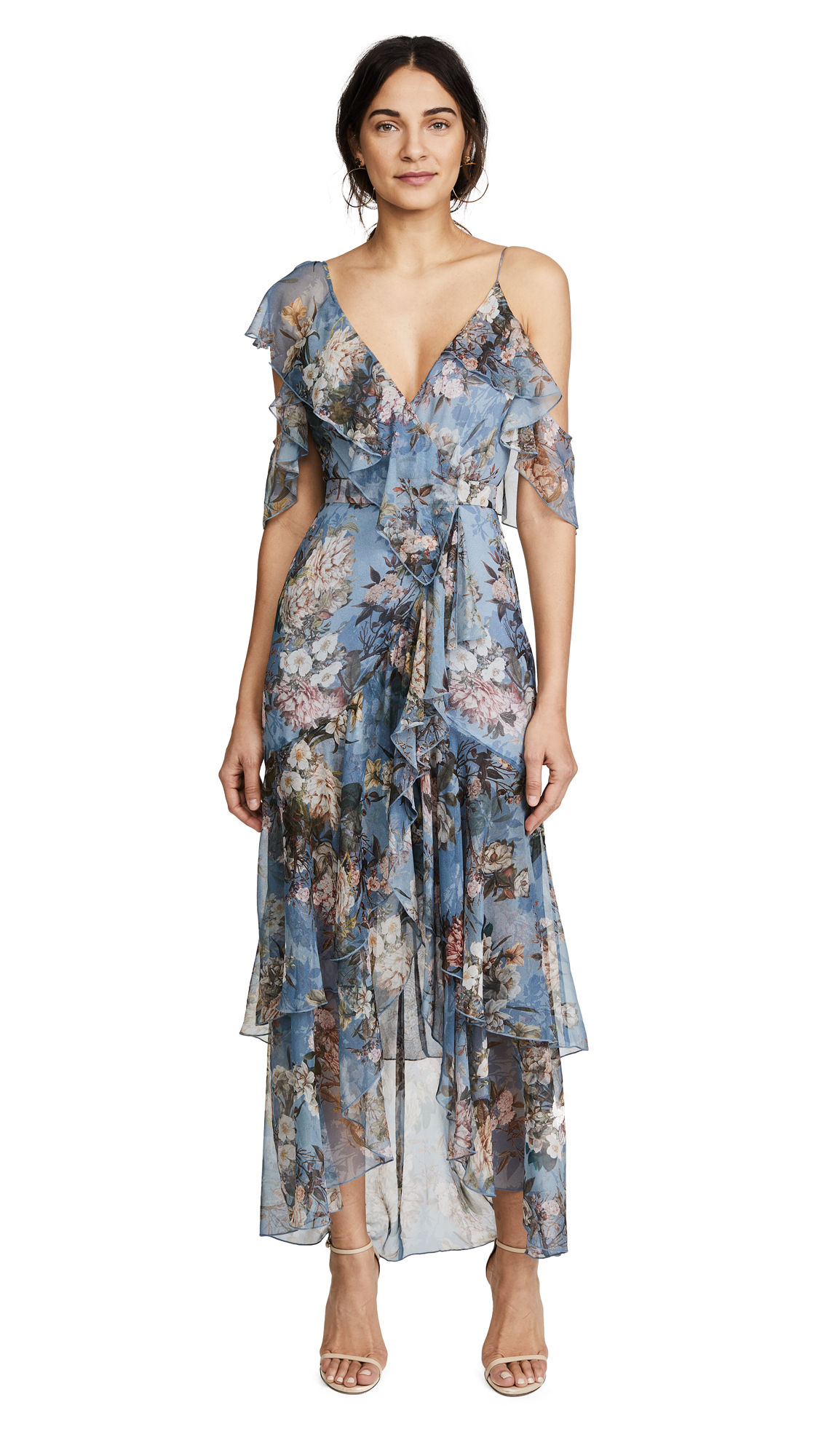 Nicholas Arielle Floral Wrap Maxi Dress
