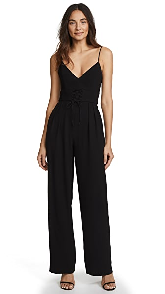Nicholas Corset Jumpsuit In Black