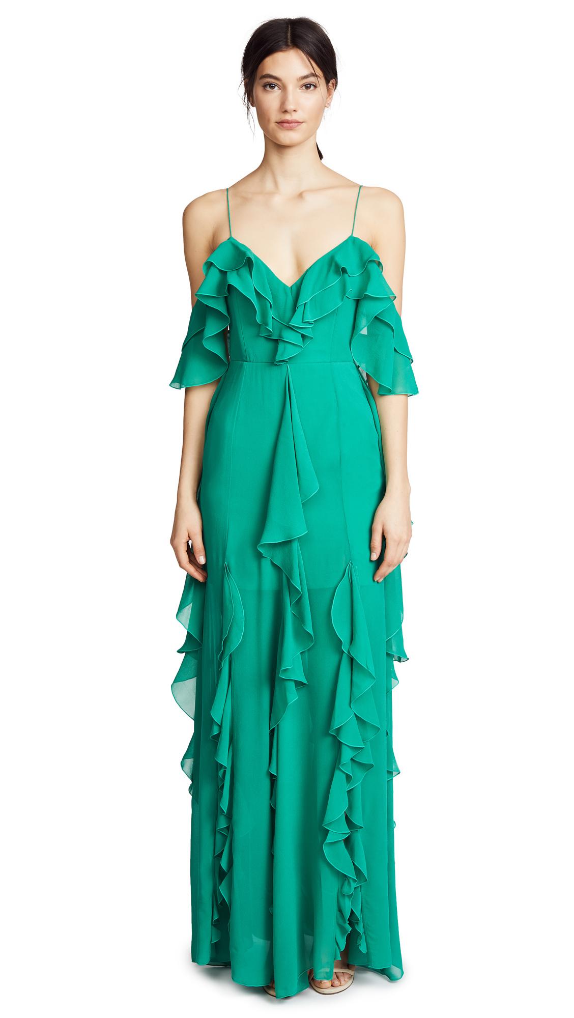 Nicholas Mayflower Cascade Frill Maxi Dress