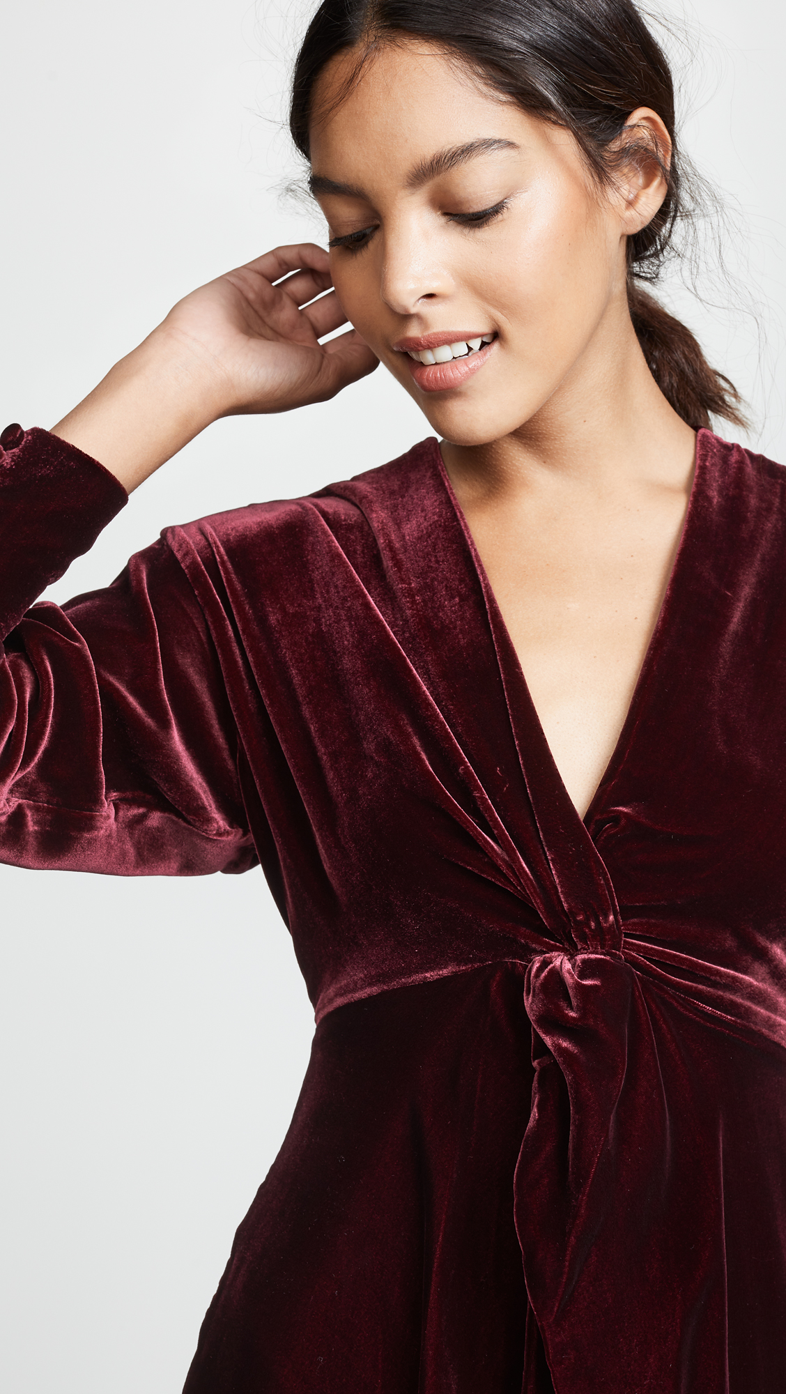 80624a3951fa Nicholas Silk Velvet Twist Front Dress | SHOPBOP