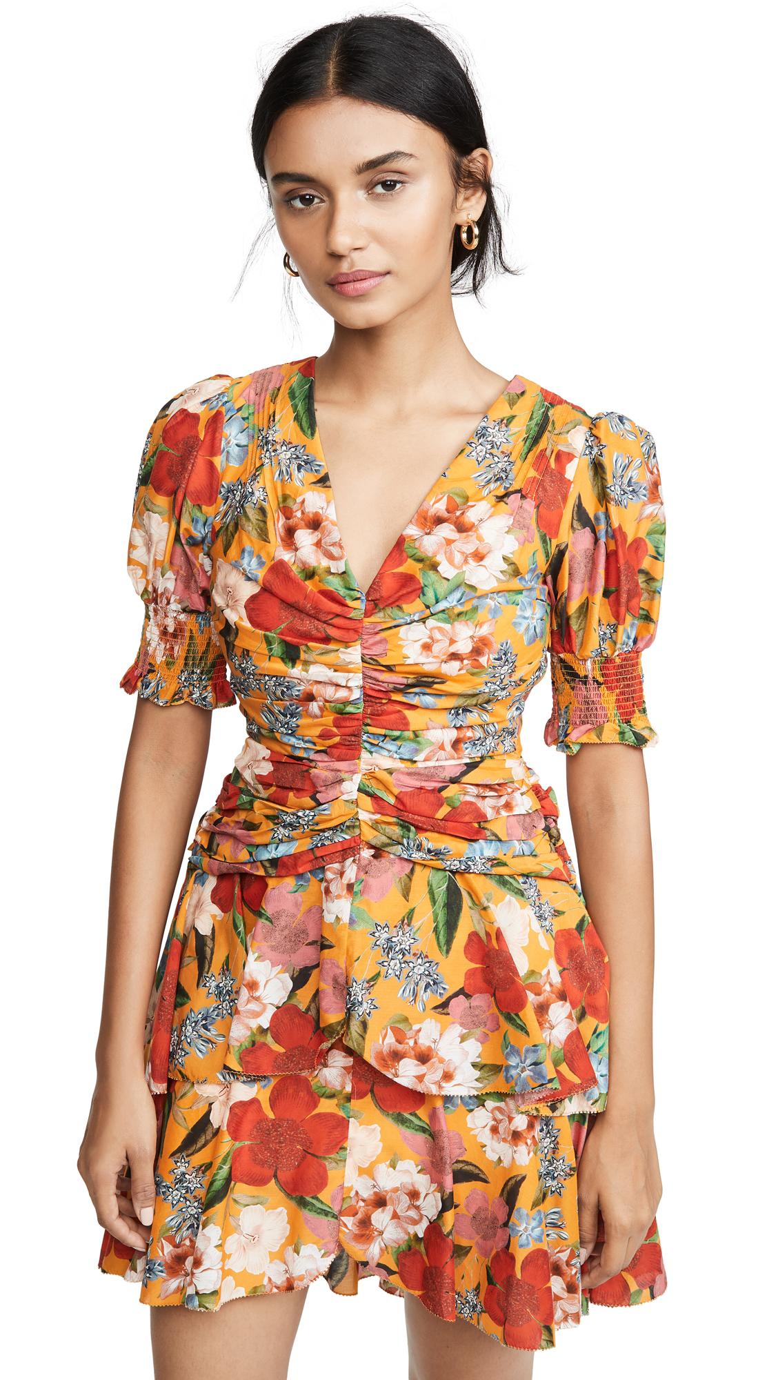 Buy Nicholas online - photo of Nicholas Puff Sleeve Pintuck Dress