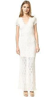 Nightcap x Carisa Rene Викторианское кружевное платье с короткими рукавами