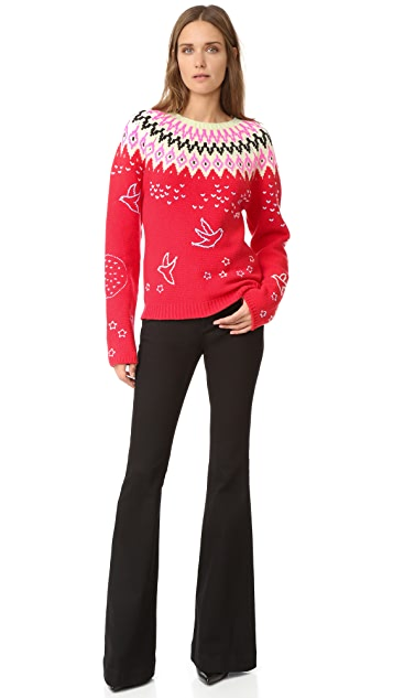 Nina Ricci Fair Isle Crew Neck Sweater