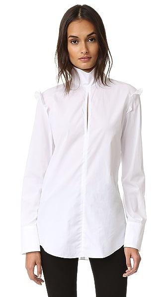 Nina Ricci Блуза из ткани в рубчик