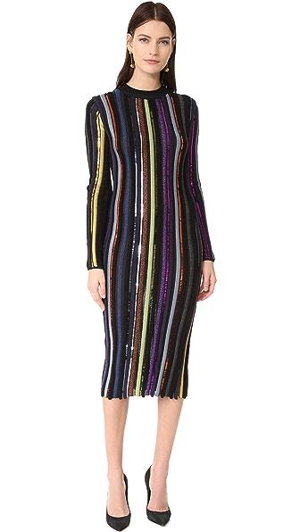 Nina Ricci Трикотажное платье с длинными рукавами