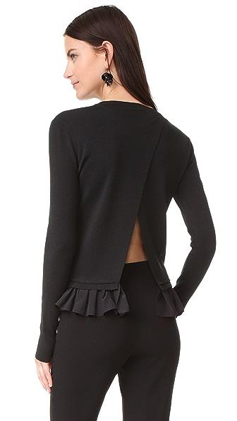 Nina Ricci Ruffle Hem Sweater - Black