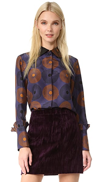 Nina Ricci Long Sleeve Blouse - Purple