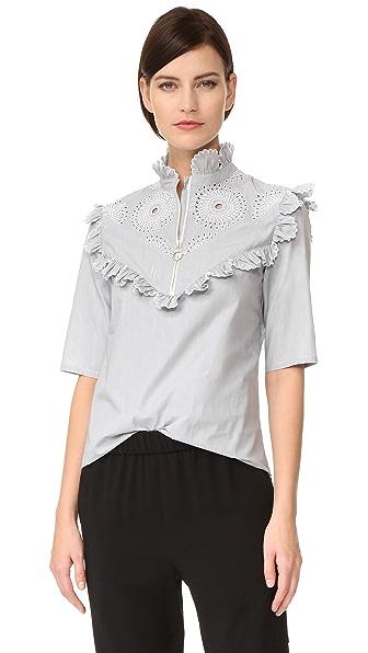 Nina Ricci Striped Top - White/Black