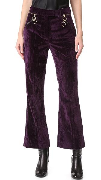 Nina Ricci Cropped Flared Pants - Dark Purple