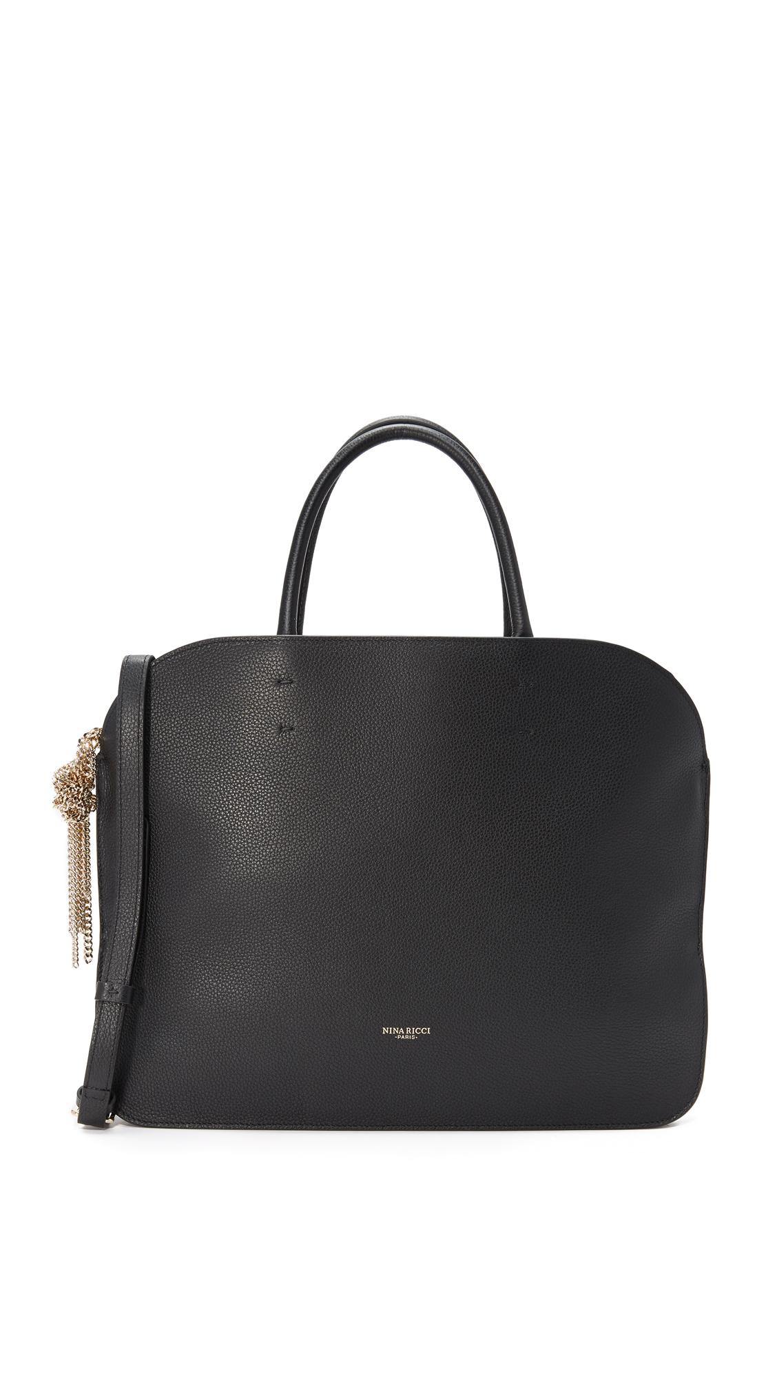 nina ricci female nina ricci elide medium satchel black