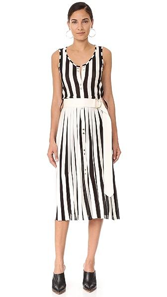 Nina Ricci Трикотажное платье без рукавов в полоску