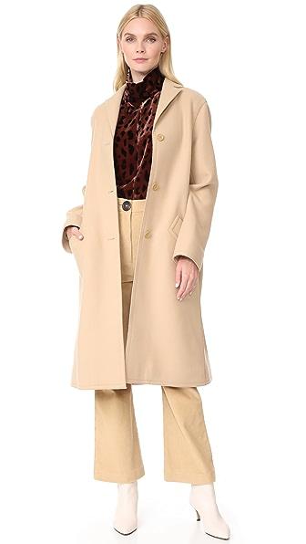 Nina Ricci Overcoat - Camel