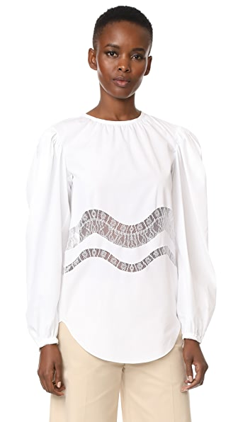 Nina Ricci Long Sleeve Top - White