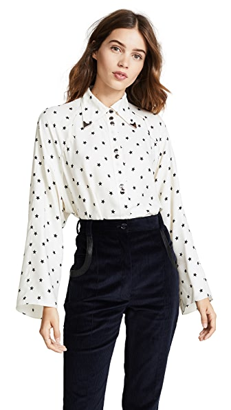 Nina Ricci Button Down Shirt - Star Print