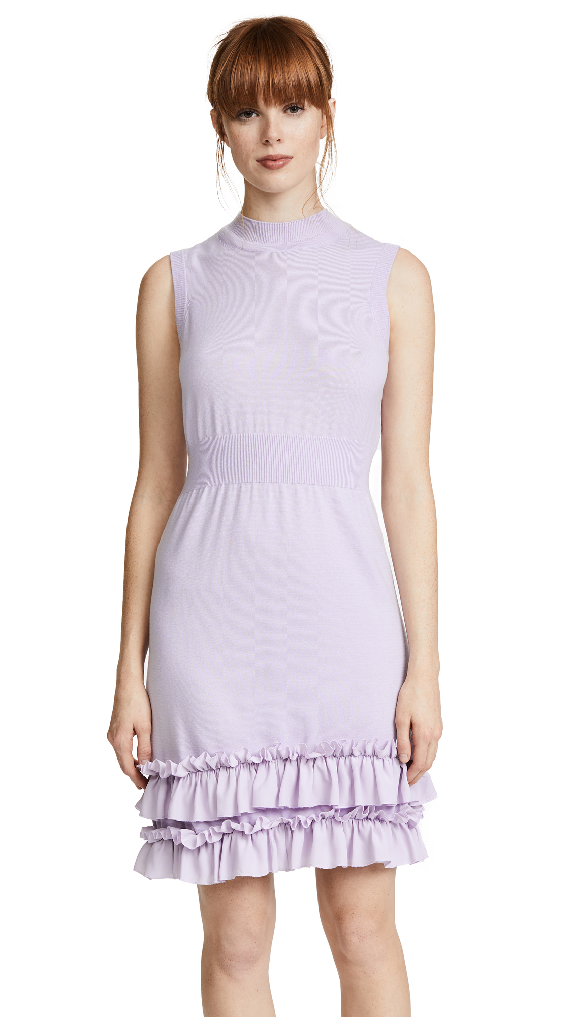 Nina Ricci Knit Dress with Ruffles - Lilac