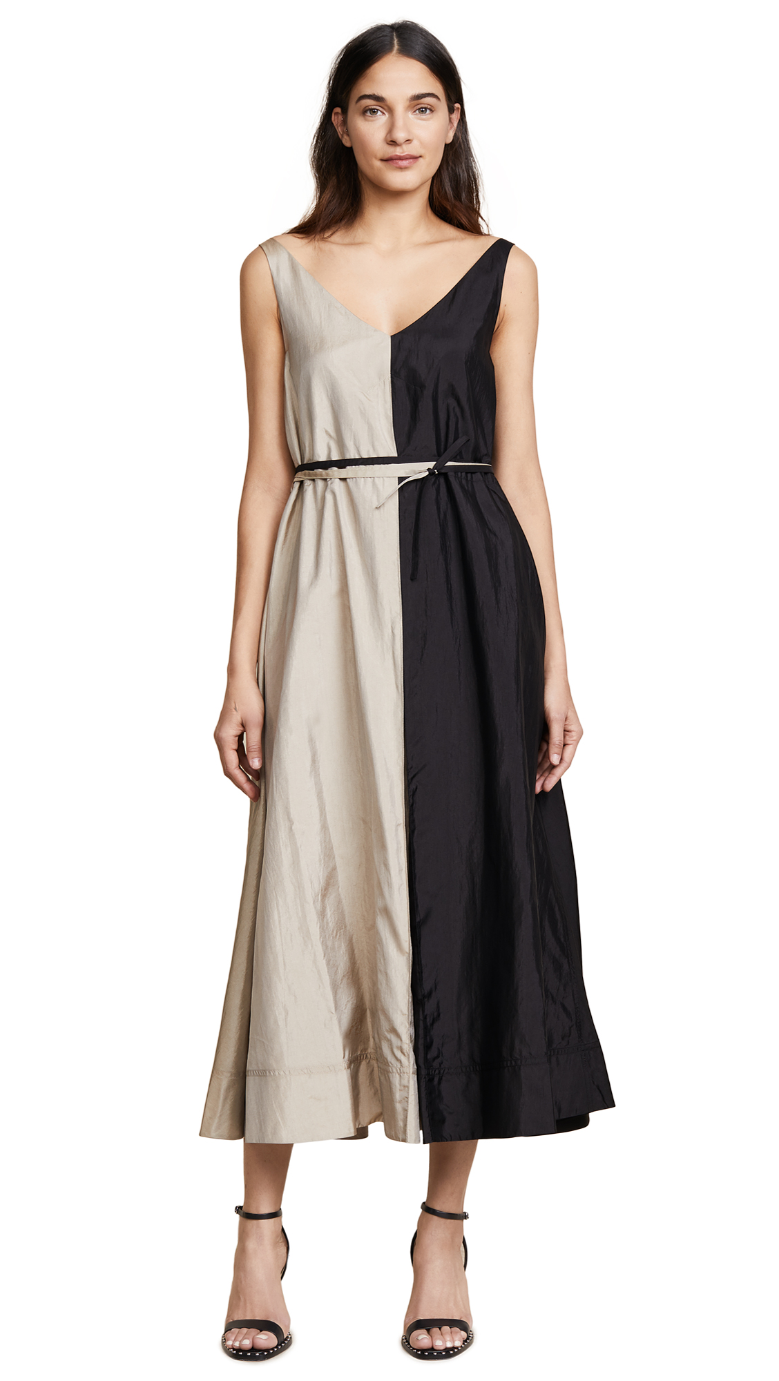 Nina Ricci Parachute Dress - Black/Linen