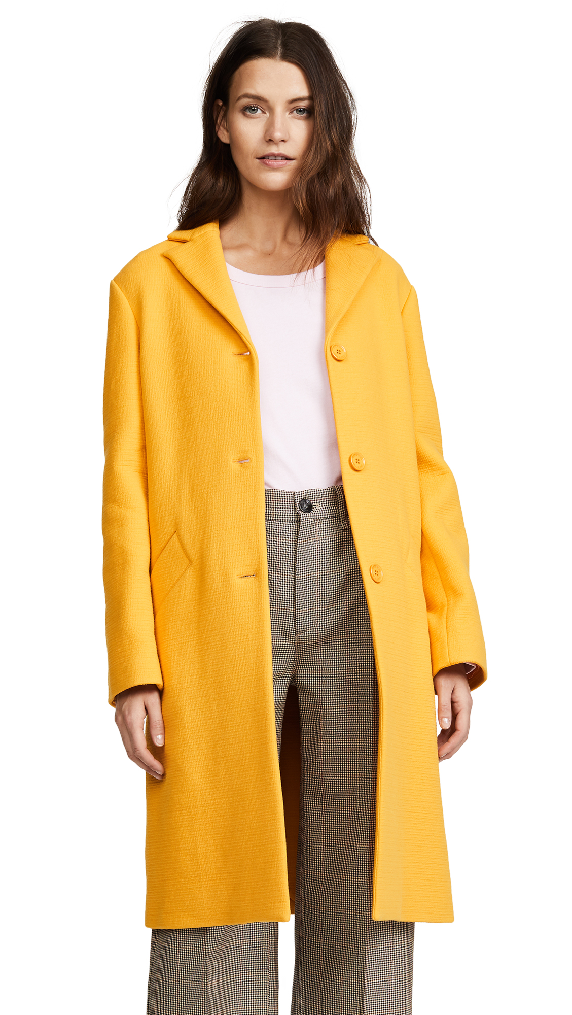 Nina Ricci Sunflower Honeycomb Coat - Sunflower/Honeycomb